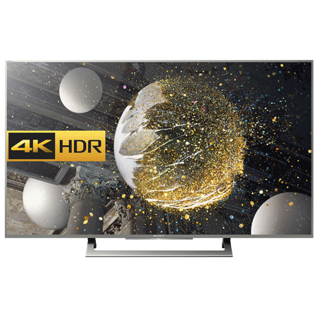 SONY KD49XD8077SU, 49 Smart LED Ultra HD 4K Android TV with Freeview HD and YouView HD - Silver