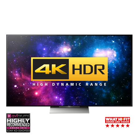 SONY KD65XD9305BU, 65 Smart 3D LED Ultra HD 4K Android TV with 4K HDR, X1 4K Processor, Built-in WiFi & Freeview HD