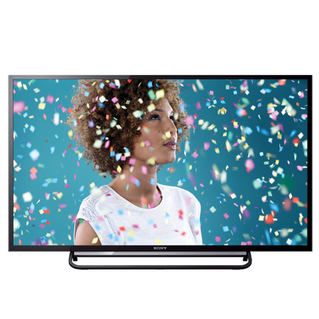 SONY KDL32R433BBU, 32 HD Ready LED TV with Clear Resolution Enhancer, Motionflow XR 100Hz, and Direct LED backlighting.
