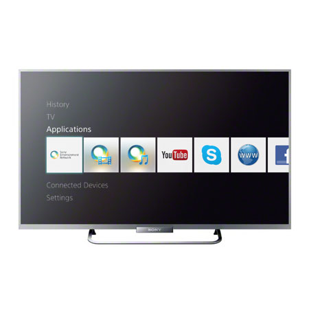 SONY KDL42W653ABU, 42 Full HD 1080p Smart LED TV with X-Reality PRO, wireless screen mirroring, Motionflow XR 200Hz & Built-in Wi-Fi