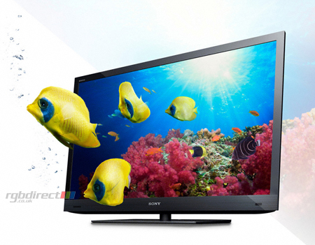 SONY KDL46EX723BU, 46 Full HD 1080p 3D LCD TV with Edge LED, Motionflow XR, Internet Video & Skype.Ex-Display Model