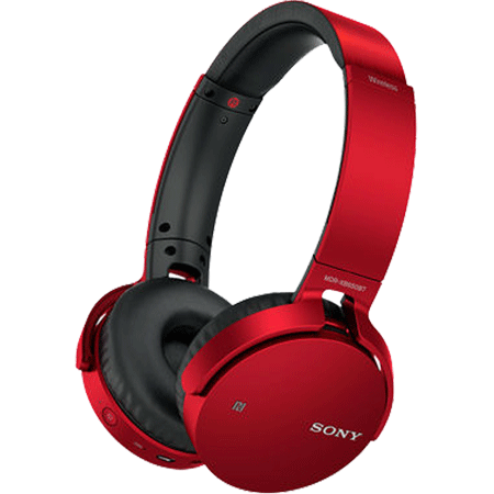 SONY MDRXB650BTR, Extra Bass On-Ear Wireless Headphones with Bluetooth (Red)