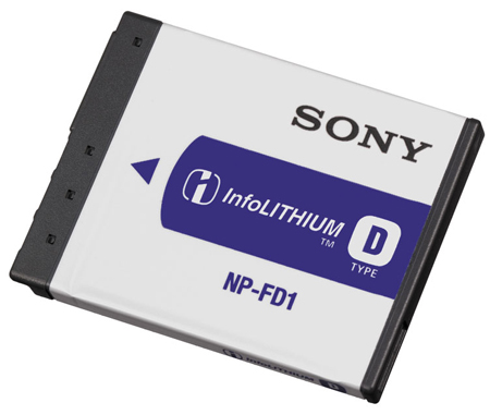 SONY NPFD1, NPFD1 InfoLITHIUM Type D Battery