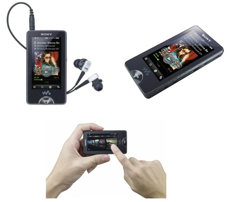 sony nwzx1050b 16gb walkman mp3 mp4 player with 3 oled. Black Bedroom Furniture Sets. Home Design Ideas