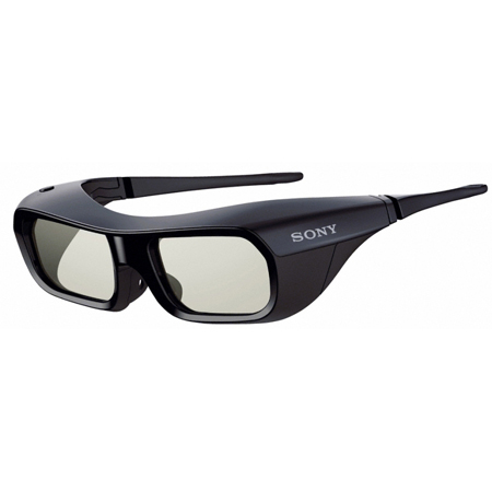 SONY TDGBR250B, Rechargeable 3D Active Shutter Glasses with Durable, Lightweight Design