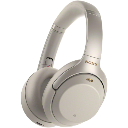 SONY WH1000XM3S, Over Ear Wireless Noise Cancelling Headphones Silver