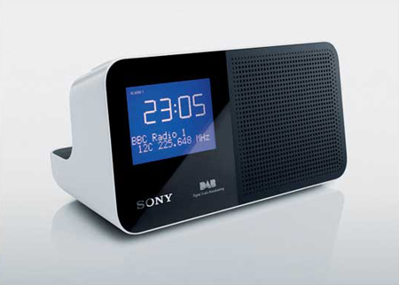 sony xdrc705dabw dab clock radio. Black Bedroom Furniture Sets. Home Design Ideas