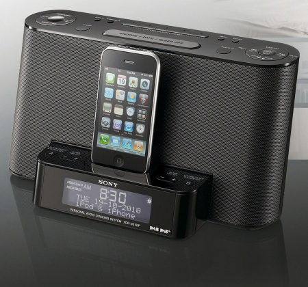 SONY XDRDS12iP, iPod/iPhone Speaker Dock with Clock Radio Function