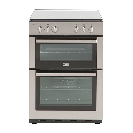 STOVES SFG60DOPLPGSTA, LPG Cooker Stainless Steel with Fan Assisted Double Oven and Cast Iron Pan Supports