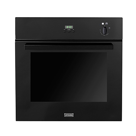 STOVES SGB600PS-Black, Single Gas Oven, Black