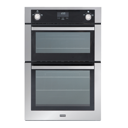 STOVES STSGB900MFSESS, Gas Double Oven Stainless Steel.