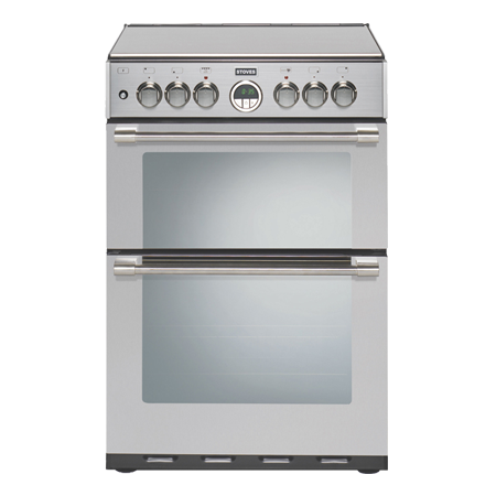 STOVES STSTERLING600GSST, 60cm Dual Fuel Cooker Stainless Steel with Double Oven