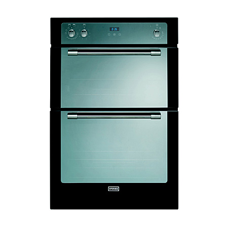 STOVES STSTERLING900FPBLK, New Sterling 900 built in oven with Mirrored glass finish with St Stl trim Fanned Programmer 444441068 In Black