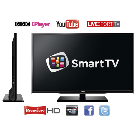 TOSHIBA 32RL958B, 32 RL Series Full HD 1080p DLNA & Skype Ready Smart LED TV with Freeview HD, Built-In WiFi & USB Video Recording