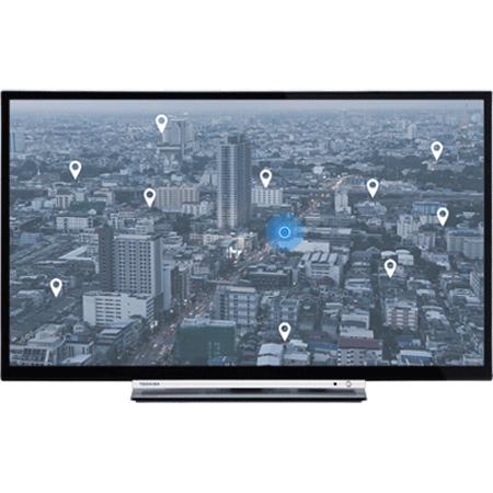 TOSHIBA 32W3753DB, 32 HD Ready TV with Toahiba Portal and USB Recording