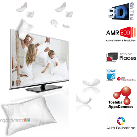 TOSHIBA 40TL968B, 40 TL Series Full HD 1080p 3D Ready Smart LED TV with Freeview HD