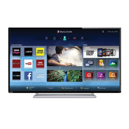 how to connect toshiba smart tv to internet