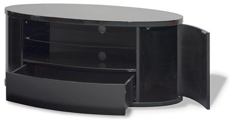 TechLink EL3, Ellipse Plus AV Stand with Side Storage for Flat Screens TVs upto 50 inch