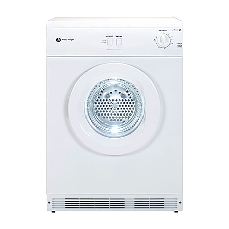 White Knight C44A7W, Freestanding 7kg Reverse Vented Tumble Dryer