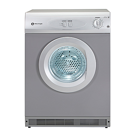White Knight C44AS, Freestanding 6kg Vented Dryer Silver
