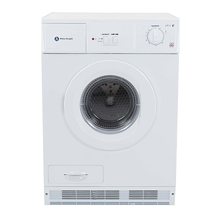 White Knight C75CW, 7kg Condenser Dryer White