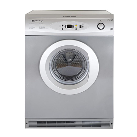 White Knight C86A7S, Freestanding 7kg Vented Dryer Silver with Sensor
