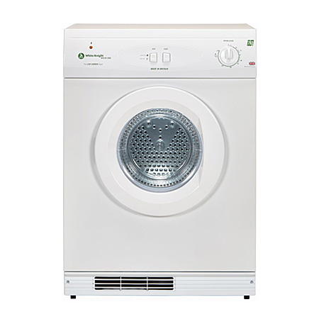 White Knight ECO43AW, Freestanding 7kg  Gas Heated Tumble Dryer, Energy Rating A+, White