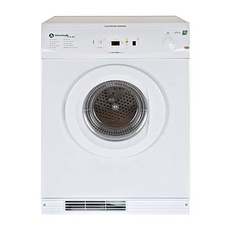 White Knight ECO86AW, Freestanding 7Kg Gas Tumble Dryer White with Sensor - A Energy Rating