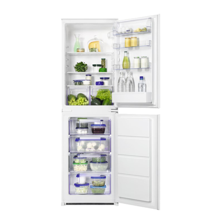Zanussi ZBB27450SA, In-Column Built-In Low Frost Fridge Freezer with A+ Energy Rating