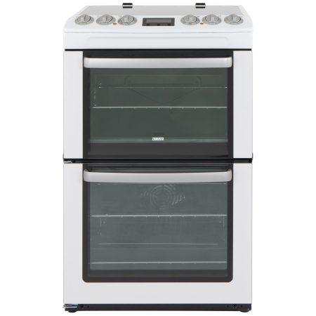 Zanussi ZCV553MWC, Electric Cooker with Double Oven, 4 Zone Hob and Programmer