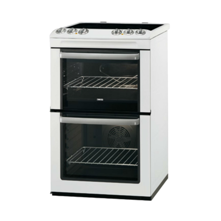 Zanussi ZCV554MW, Electric Cooker with Double Oven and 4 Zone Ceramic Hob with A Rated Energy Efficiency.Ex-Display