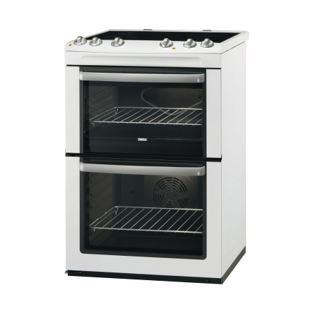 Zanussi ZCV668MW, Electric Cooker with Double Oven and 4 Zone Ceramic Hob