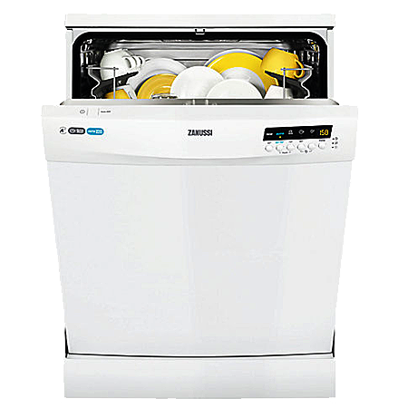 Zanussi ZDF26011WA, 60cm Freestanding Dishwasher with A++ Energy Rating -White