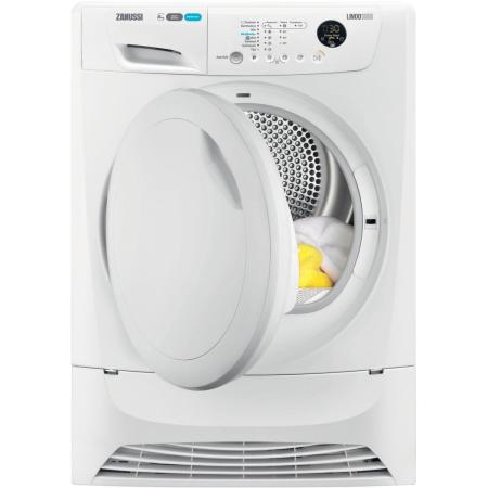 Zanussi ZDH8333P, 8kg Heat Pump Condenser Dryer White with Sensor