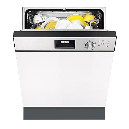 Zanussi ZDI22001XA, Semi-Integrated Dishwasher in Stainless Steel