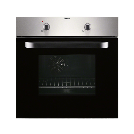 Zanussi ZOB143X, Fan Assisted Multifunction Electric Single Oven BlackStainless Steel