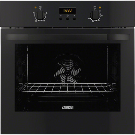 Zanussi ZOB35301BK, Fan Assisted Electric Single Oven Black
