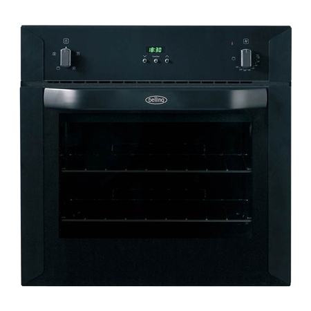 belling BELBI60FP, Stainless Steel 60cm Built-In Electric Fanned Oven with Programmable Timer