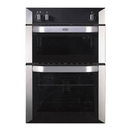 belling BELBI90F, 90cm Fan Assisted Double Oven with minute minder - Stainless Steel.Ex-Display