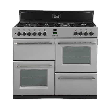 belling BELCLASSIC100GTSILVER, 100 cm Gas Range Cooker Silver with 7 BurnerWok Hob.Ex-Display