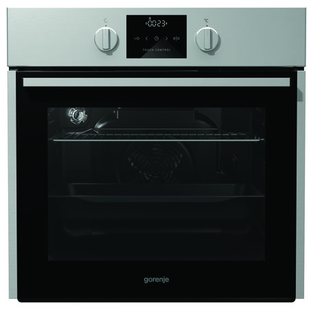 gorenje BO635E01XKUK, 60cm Built-in Multifunction Electric single oven in Stainless Steel with A Rated Energy Class