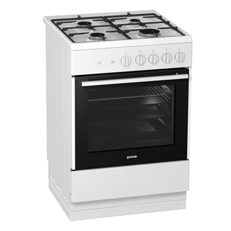 gorenje GI612E17WKA, Freestanding 60cm Gas Cooker with A Energy Rating - White. Ex-Display Model