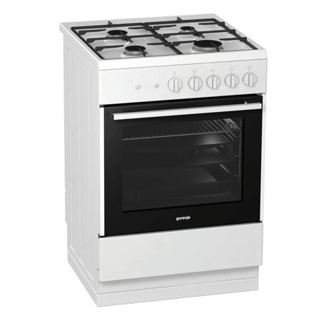 gorenje GI612E17WKA, Freestanding 60cm Gas Cooker with A Energy Rating - White. Ex-Display Model