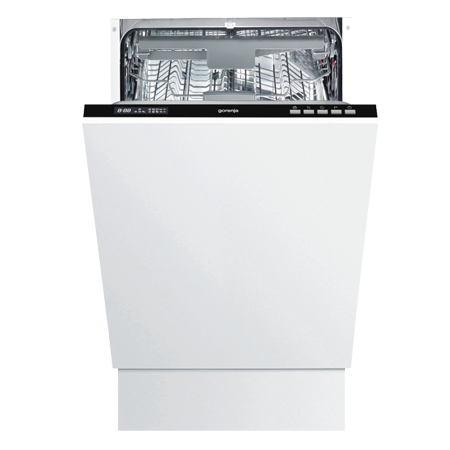 gorenje GV53315UK, Built-In 45cm Dishwasher, 10 place settings with A++ Energy Rating