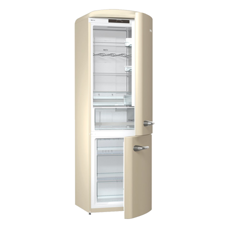 gorenje ONRK193C, Gorenje Retro Collection ONRK193R 60/40 Frost Free Fridge Freezer - Cream. Ex-Display Model