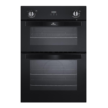 newworld NW901DOPBLK, 90cm Electric Double Oven Black with Programmer