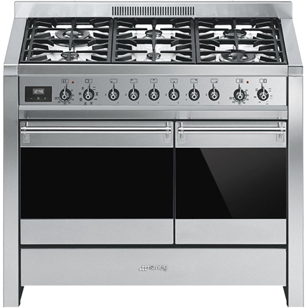 smeg A281, 100cm Dual Fuel Range Cooker Stainless Steel