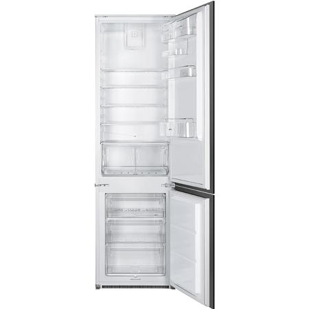 smeg C3180FP,  Integrated 70/30 Fridge Freezer with Sliding Door Fixing Kit - White - A+ Rated