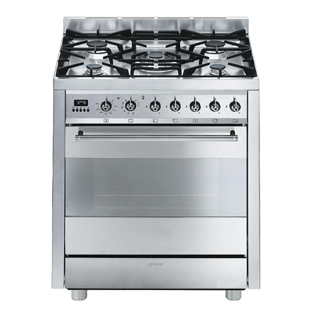 smeg C7GPX8, 70cm Dual Fuel Range Cooker - Stainless Steel