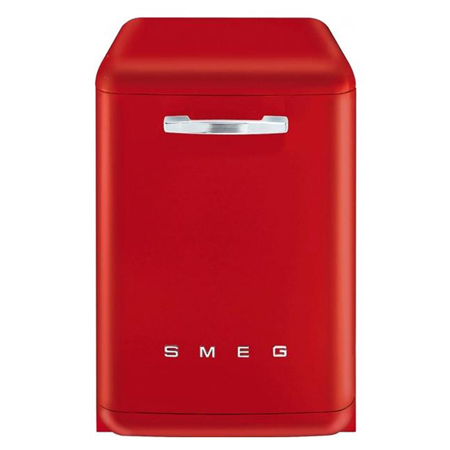 smeg DF6FABR2, Freestanding 50s Retro Style 60cm Dishwasher in Red